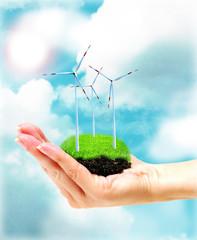 Windenergie in der Hand