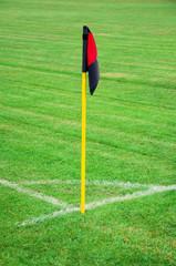 Soccer corner kick flag