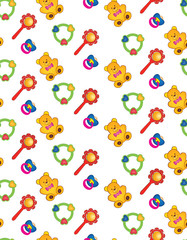 seamless pattern  background from children's toys