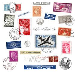 Briefmarken und Poststempel aus Frankreich