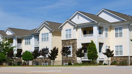 Typical apartment complex building in suburban area
