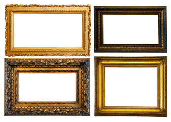 horizontally gilded frame
