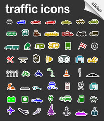 Traffic icons and sticker