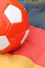 Fahne mit Ball