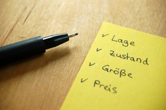 Checkliste Hauskauf