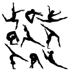 nine gymnasts