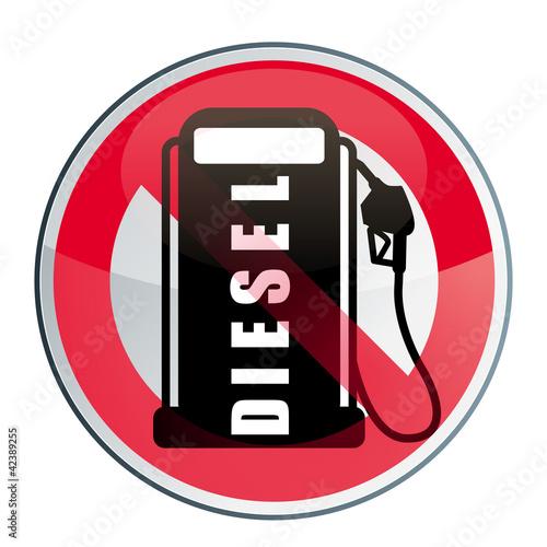 la fin du diesel gazole interdit fichier vectoriel libre de droits sur la banque d 39 images. Black Bedroom Furniture Sets. Home Design Ideas