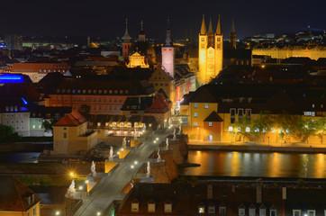 Blick über Würzburg