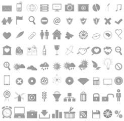 Icon set Media. Eps8 vector