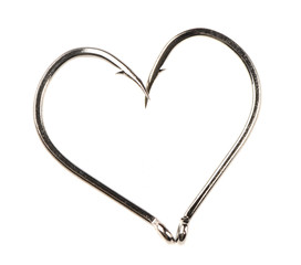Heart Shape Made of Two Fish Hooks