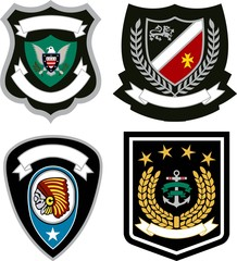 classic emblem badge set