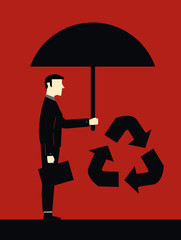 Businessman Protect Ecology