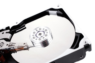 hard drive isolated on white