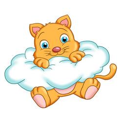gatto sulla nuvola