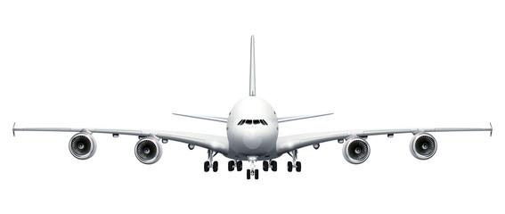 Grosser Jumbojet  - freigestellt