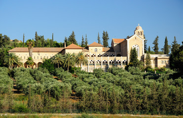 Trappists monastery in Latrun area. Israel.
