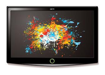 LCD TV Splat screen