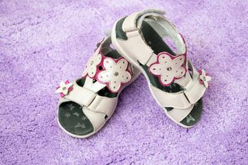 children's summer sandals lilac carpet