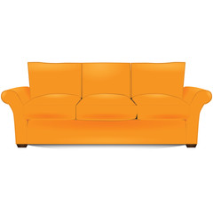 Three-section sofa