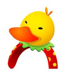 Vector icon duck hairband