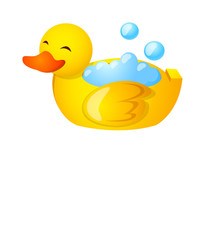 Vector icon duck bath