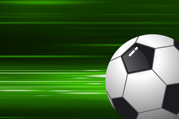 Football on speed background
