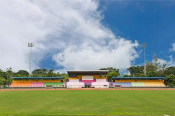 Little stadium with blue sky