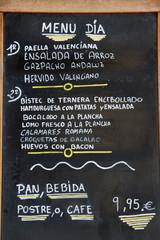Valencia - Spanish Menu Del Dia