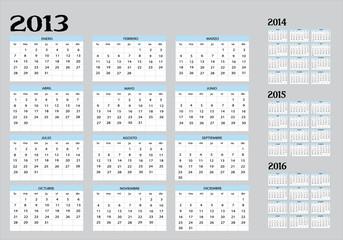 2013,2014,2015,2016 calendario