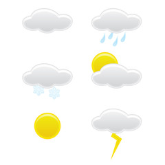 Web weather icons symbols collection