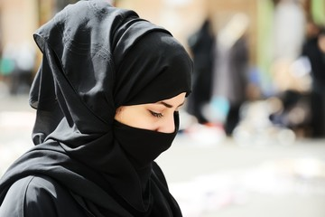 Muslim woman with veil