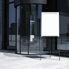 architecture edition - office entrance with flipchart