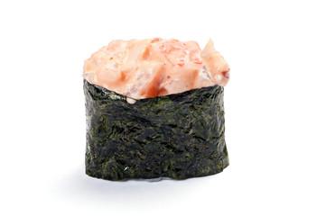 Gunkan Sushi. Spicy ebi, shrimp Acute