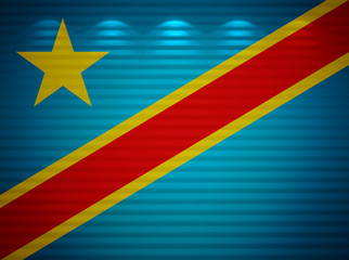 Congo flag wall, abstract background