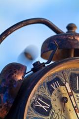 Vintage alarm clock ringing