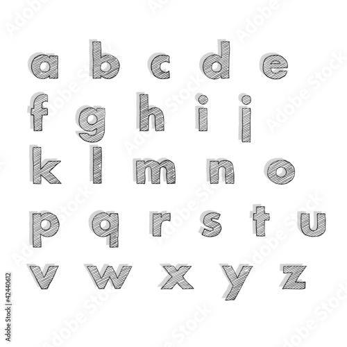 Kleine Rechnung Mit 4 Buchstaben : abc gemalte kleine buchstaben stockfotos und ~ Themetempest.com Abrechnung