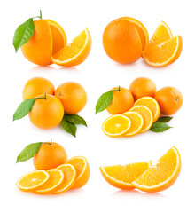 set of 6 orange images