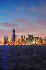 Fototapete - Miami night scene