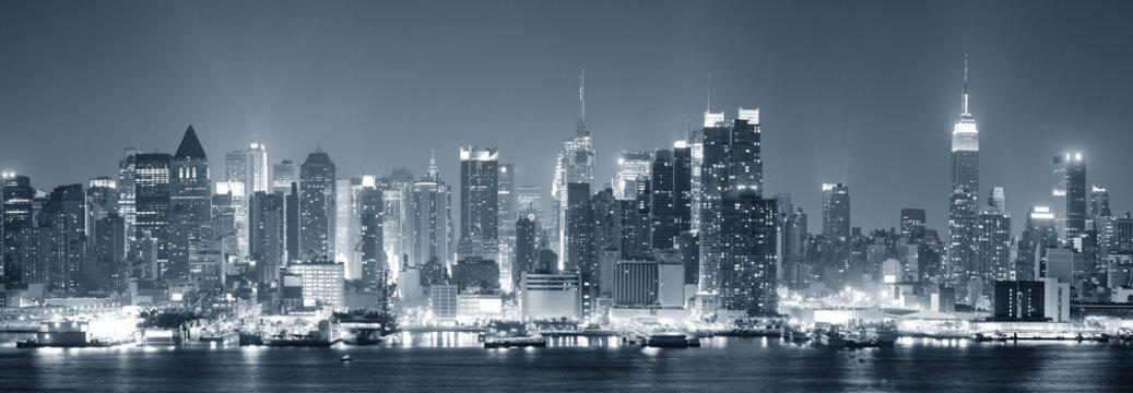 New York City Manhattan black and white