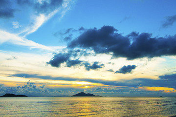 Sunset coast in Hong Kong