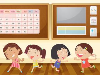 girls in classroom