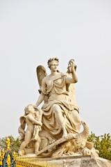 marble sculpture at Versailles palace near Paris, France