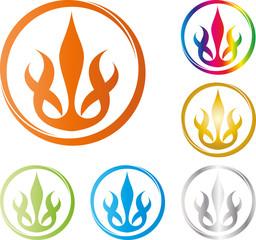 Logo, Icon, Buton, Feuer