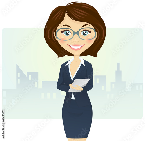 cartoon woman clip art - 650×920