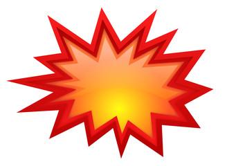 Vector boom glossy symbol