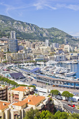 City of Monaco during the Formula One season