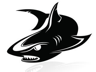 The vector image of a shark,logo,sign,vector,icon Wall mural