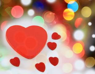 valentines red hearts abstract background