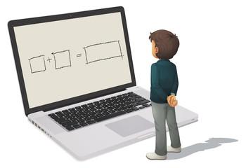 man and laptop