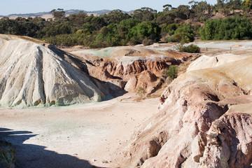 Colored rock in disused mine